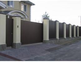 Забор из профнастила в Зельве