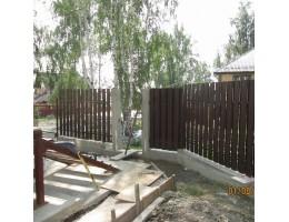 Деревянный забор в Зельве