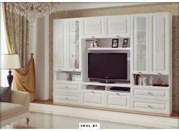 Белые стенки в гостиную