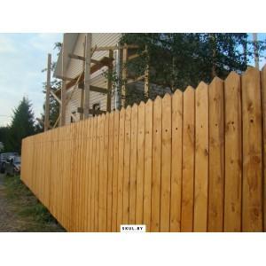 Сплошной деревянный забор в Бобруйске